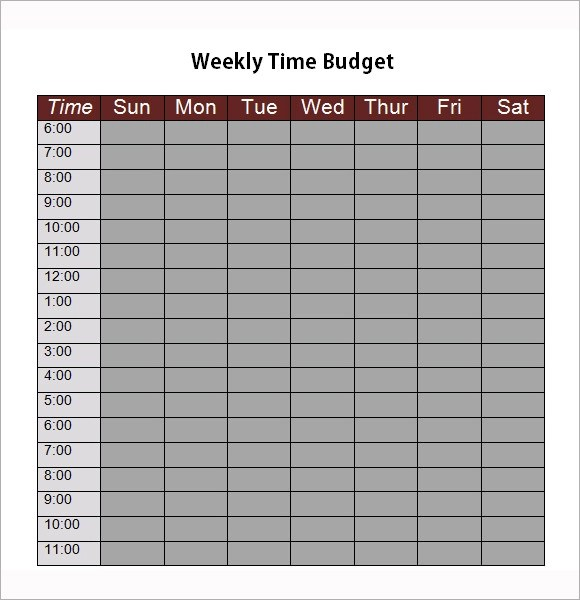Sample Weekly Budget - 7+ Documents in Word, PDF, Excel - weekly budget template