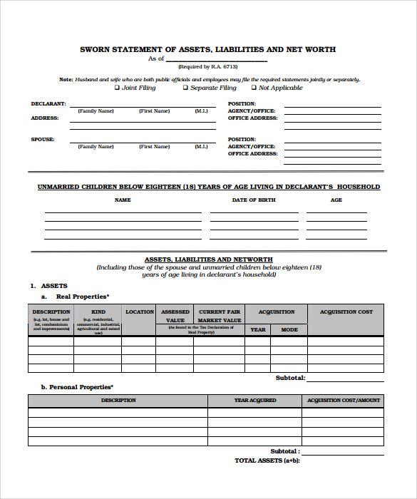 sworn statement templates - Wwwwellnessworks