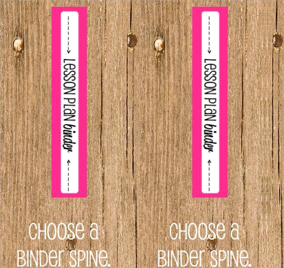 6+ Sample Binder Spine Templates Sample Templates