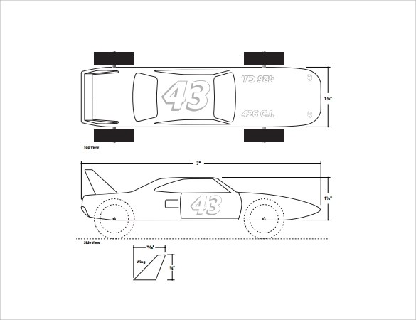 Pinewood Derby Templates - 11+ Download Documents in PDF - pinewood derby template