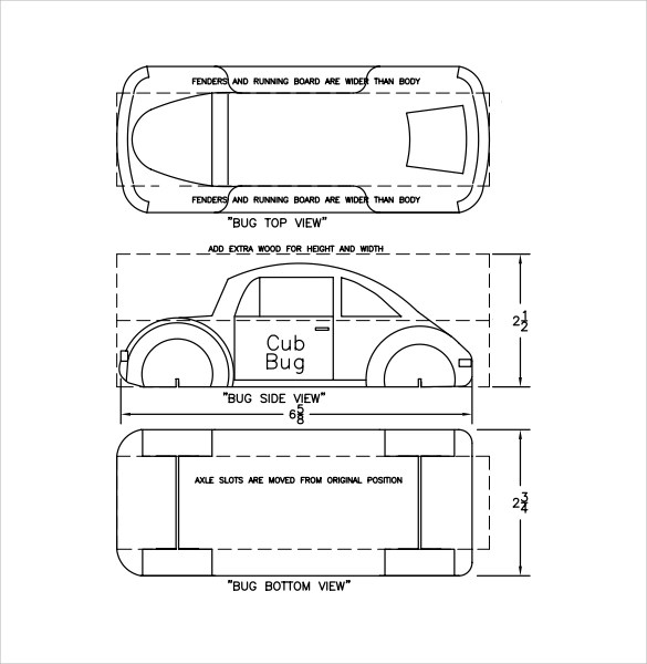 12 Sample Pinewood Derby Templates to Download Sample Templates - pinewood derby templates