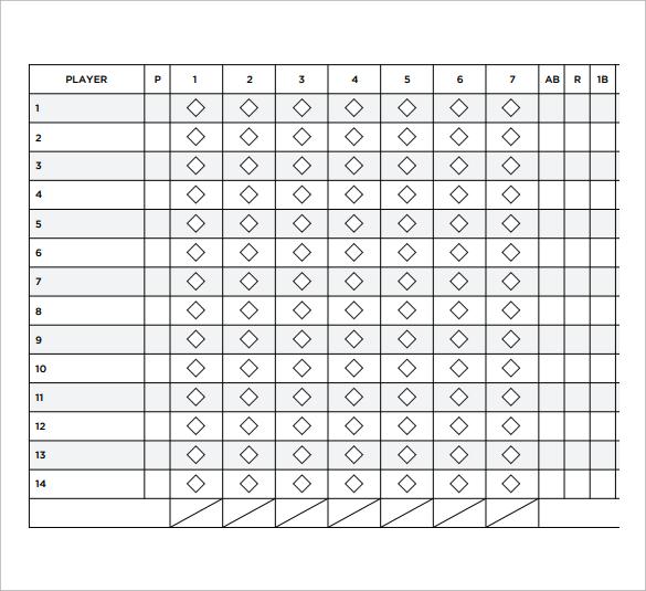 11+ Sample Softball Score Sheets Sample Templates - softball score sheet template