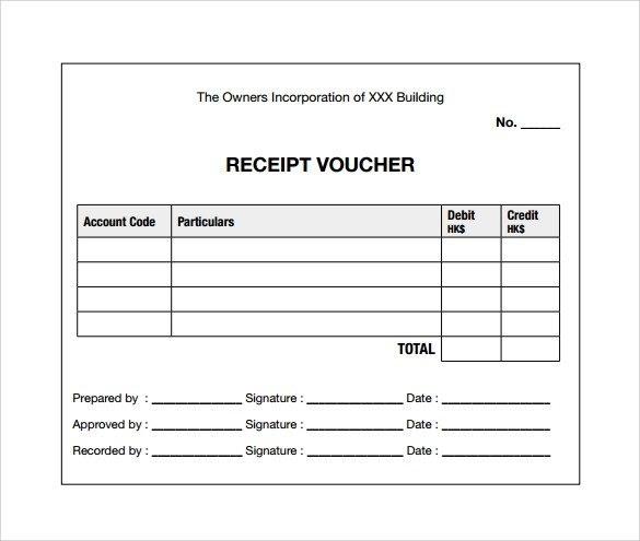 sample voucher receipt - Funfpandroid - Free Download Receipt Format In Excel
