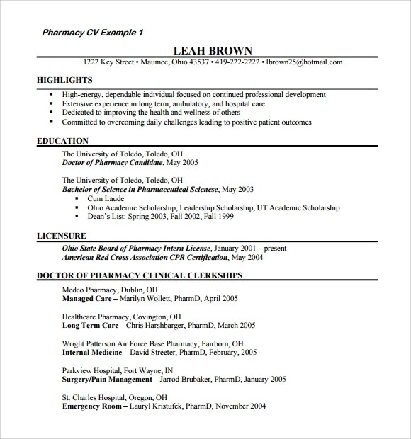 Resume Format For Doctors Bhms  Medical Doctor Resume