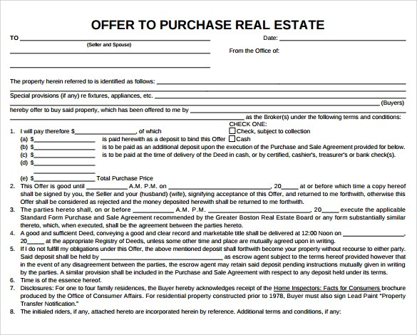 real estate purchase form - Klisethegreaterchurch - sample real estate purchase agreement
