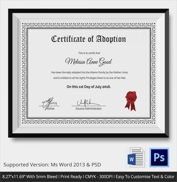 microsoft word certificate