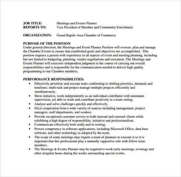 More Writing  Northern Virginia Community College event planner - event planner resume template