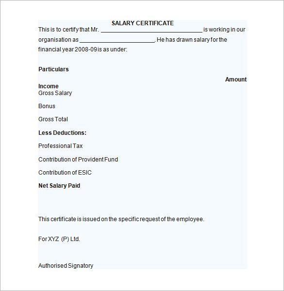 Sample Cv For Freshers Sample Cv Format Sample Salary Certificate Template 21 Documents In Pdf