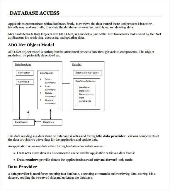 Sample Access Database - 7+ Documents in PDF