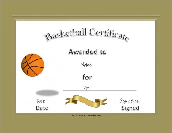 Certificate templates for free resume templateasprovider basketball certificate template free basketball certificates certificate templates for free yadclub Choice Image