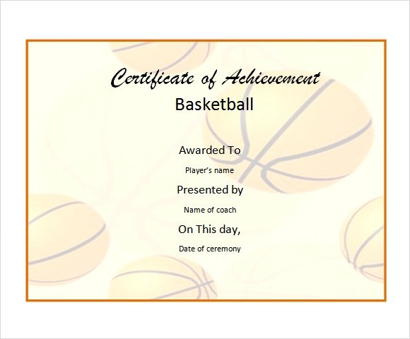 9 Sample Basketball Certificate Templates to Download Sample Templates - Award Certificate Template Microsoft Word