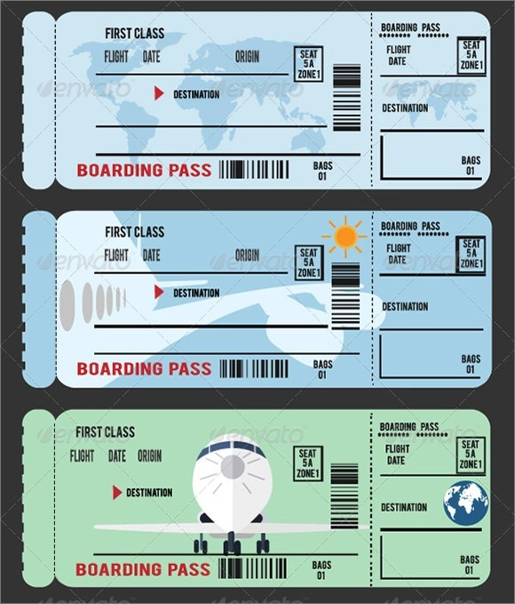 10+ Boarding Pass Samples Sample Templates - boarding pass template
