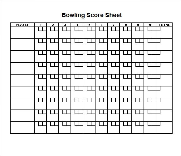 Sample Bowling Score Sheet - 10+ Documents in PDF, PSD, Word, Excel