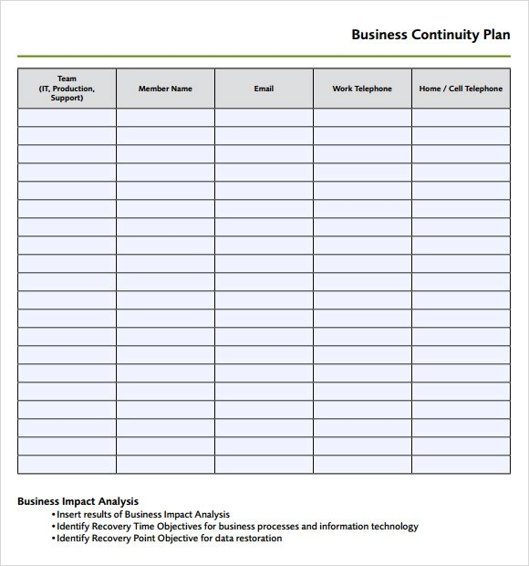 business continuity templates hitecauto - disaster recovery plan template