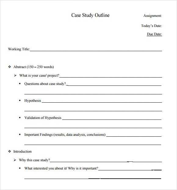 Case Study Uk Centre For Materials Education Case Study Template 6 Download In Pdf Psd