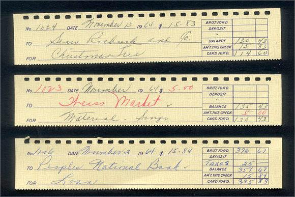 sample of check stub