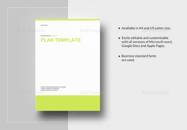 Construction Business Plan Template - 11+ Download Free Documents in
