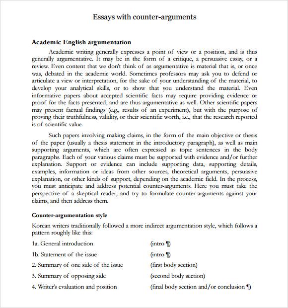 sample argumentative essay outline argumentative essay counter