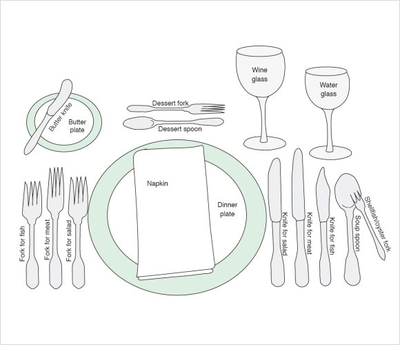 formal place setting template - Onwebioinnovate