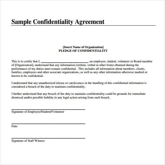 Non Disclosure Agreement Template Free Download  Create