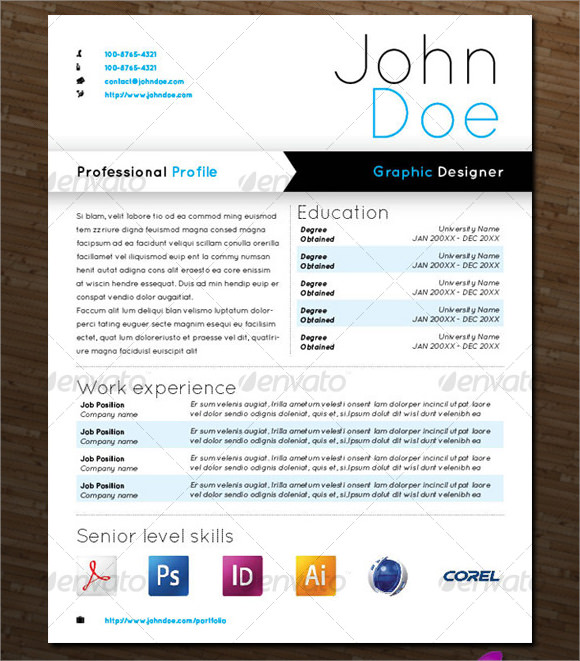 Sample Designer Resume - 10+ Documents in PDF, Word , PSD , Vector