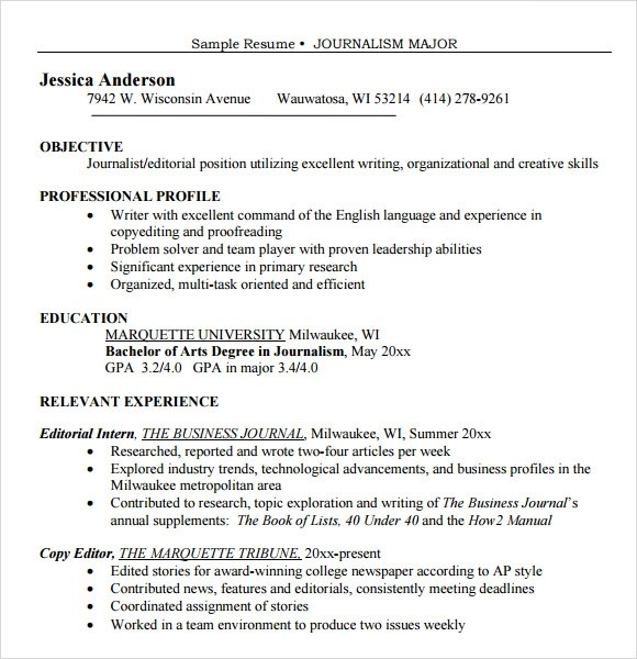 author resume