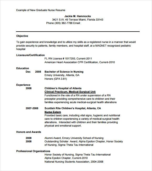 resume sample for new high school graduate