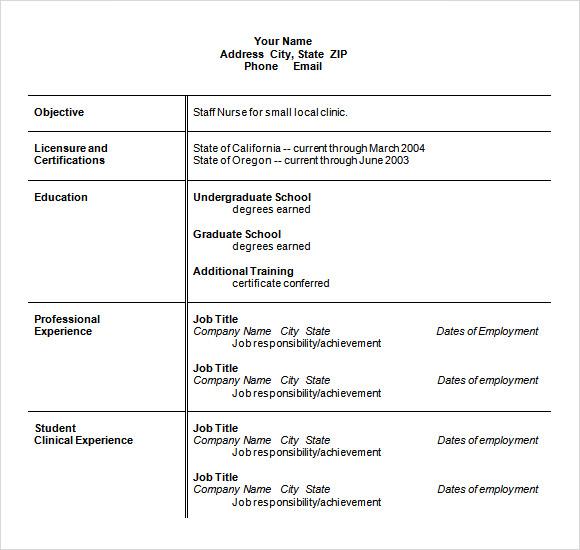 Sample Nursing Resume - 8+ Download Free Documents in PDF , Word , PSD