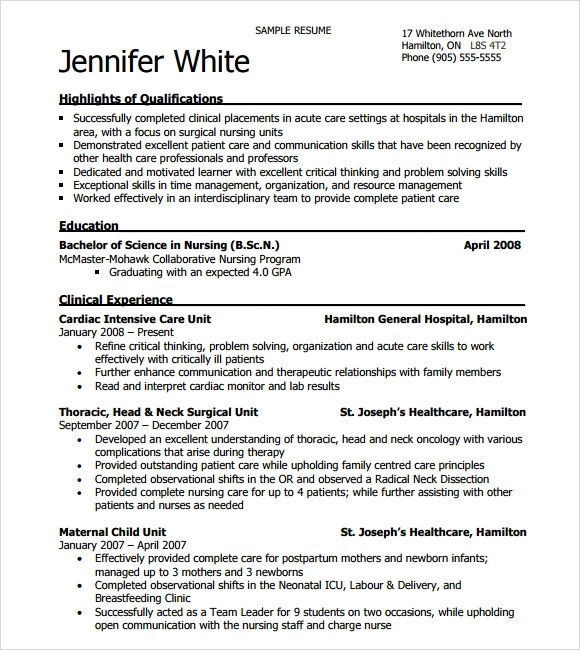 nursing resume template 2015 - Trisamoorddiner