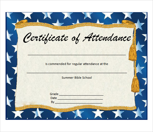 14+ Attendance Certificate Template - Download Free Documents in - attendance certificate template