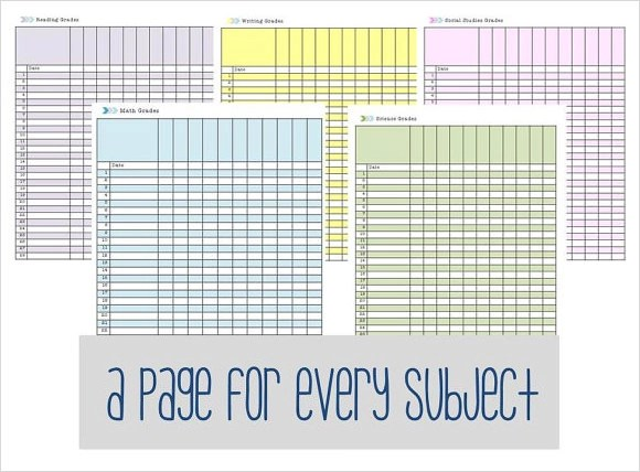 8+ Sample Gradebook Templates Sample Templates - Teacher Grade Book Printable