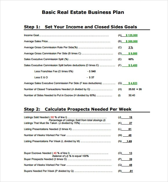 Business Plan Sample Real Estate | Resume Pdf Download