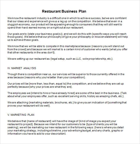Restaurant Business Plan Template - 14+ Download Documents in PDF