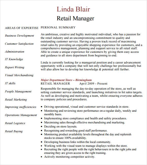 Retail Manager Resume Resume Store Retail Store Manager Resume - retail manager resume template