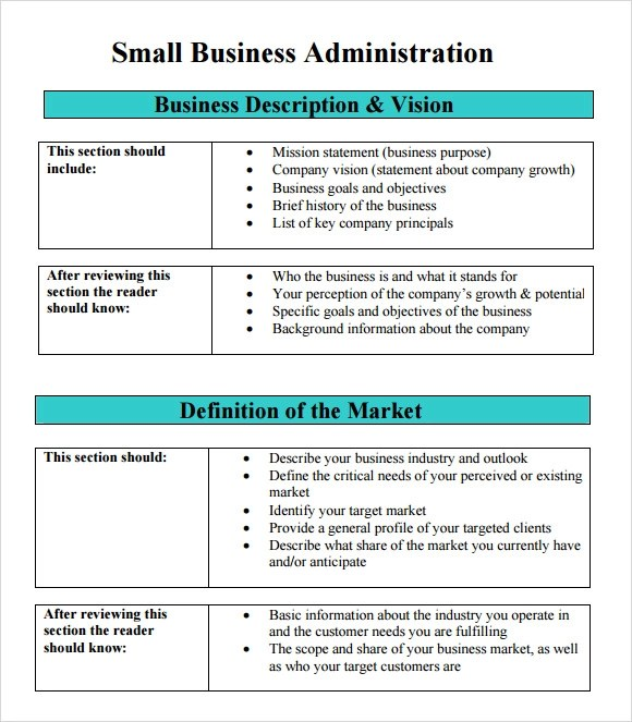Sample SBA Business Plan Template - 9+ Free Documents in PDF, Word