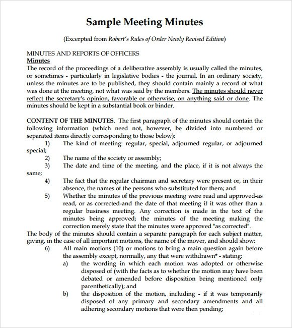 Meeting Notes Template - 9+ Download Free Documents in PDF , PSD - meeting summary template