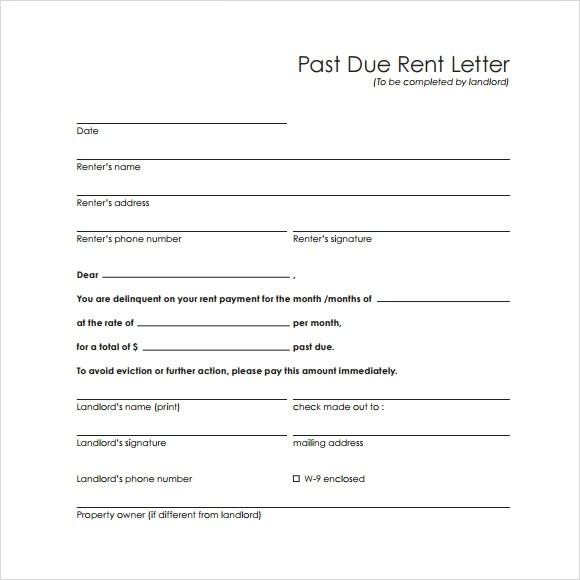 Agreement For Payment Of Past Due Rent  Resume Maker Create