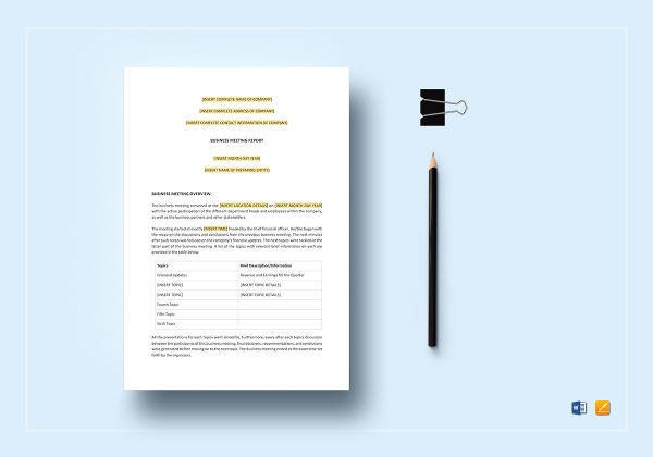 16+ Sample Business Reports Samples, Examples, Templates Sample