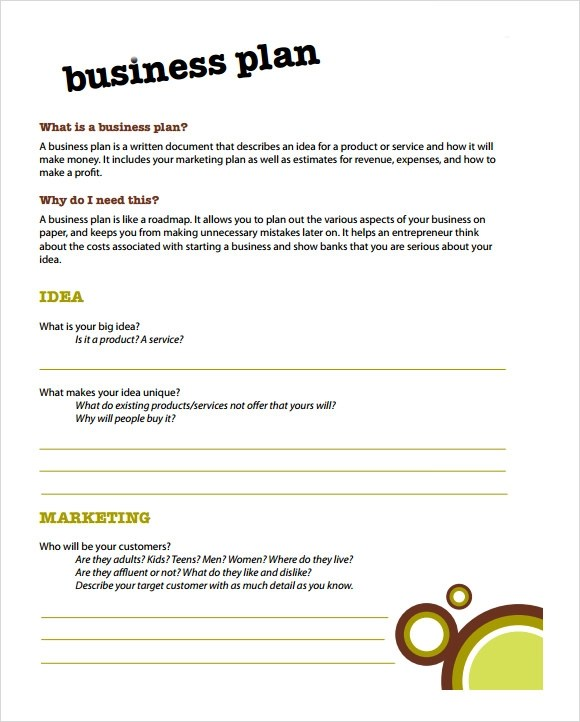 Simple Business Plan Template - 21+ Documents in PDF, Word, PSD