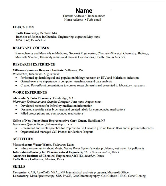 standard format of resume in the philippines