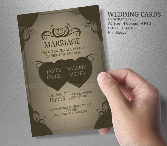 8 Amazing Sample Wedding Card Templates to Download Sample Templates - wedding card template