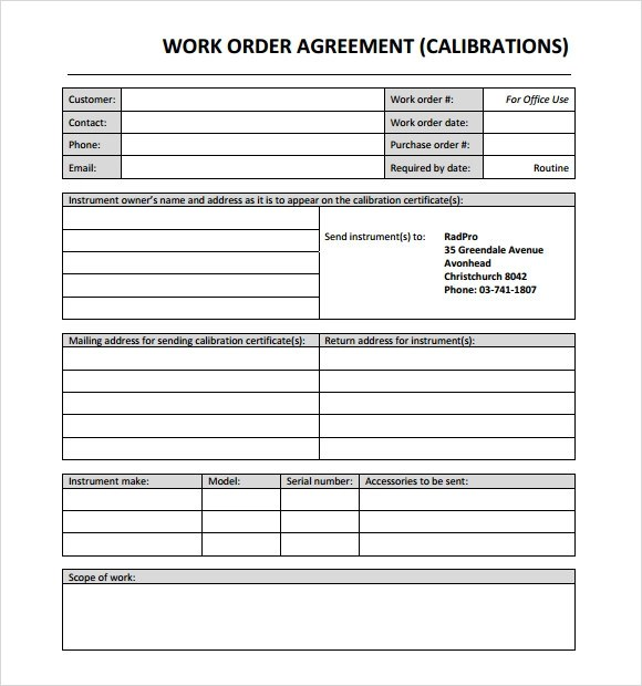 Example Of Work Order Form Sample Tenant Work Order Request Form - purchase order format free download