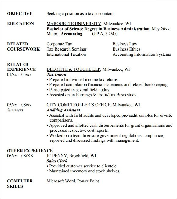 How to improve my writing skills - Quora resume for accounting major