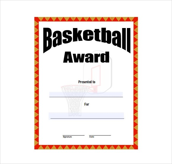 8+ Basketball Certificate Templates - Download Free Documents in PDF