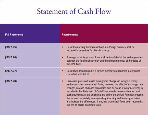 Sample Cash Flow Statement - 13+ Documents in PDF, Word