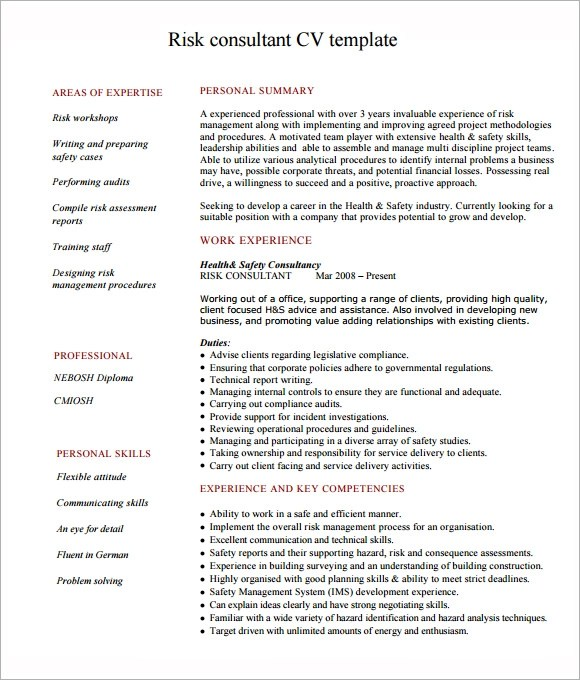 6+ Consultant Resume Samples Sample Templates