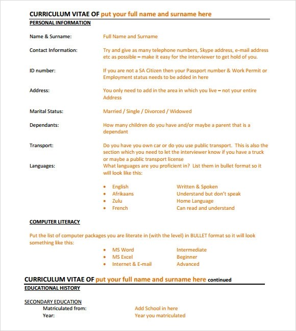 9 Executive Resume Templates \u2013 Samples , Examples  Format Sample - resume templates executive