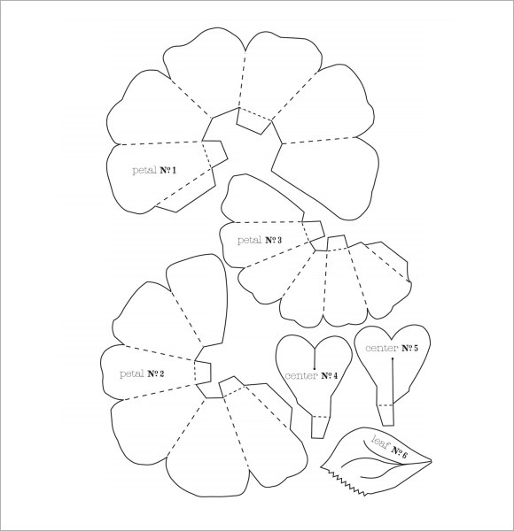 Flower Petal Template - 9+ Download Documents in PDF , PSD , Vector