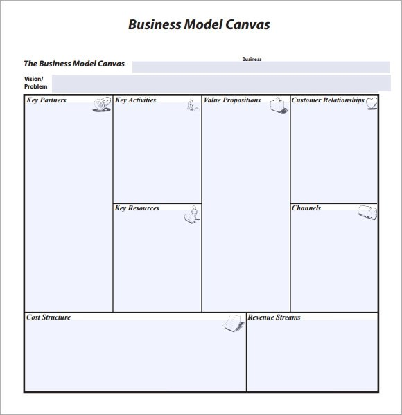 8+ Business Model Canvas Samples Sample Templates - business model canvas template