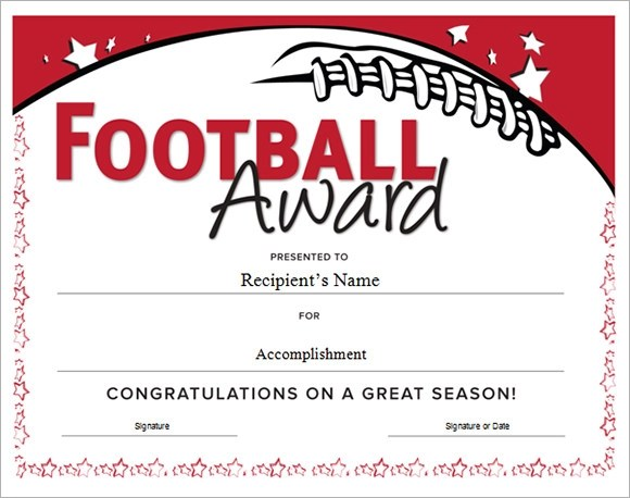 Football Certificate Template - 16+ Download Documents in PDF , PSD